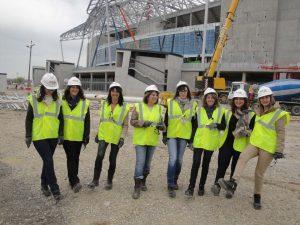 L'équipe féminine de PATRICOLA au nouveau stade de l'OL